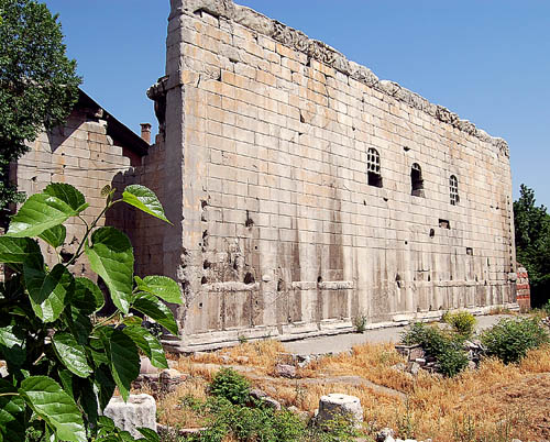 Temple of Emperor Augustus, Ankara, Turkey.