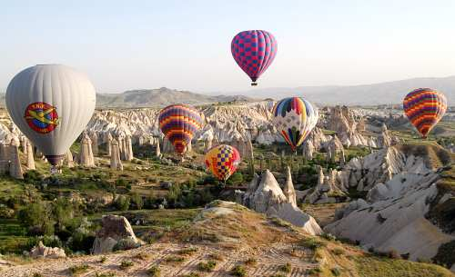 Ballooning in Cappadocia. Photo by Ferrell Jenkins.