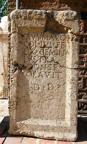 Lystra Inscription. Photo by Ferrell Jenkins.