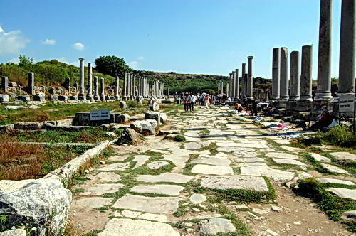 The Roman City of Perga in Pamphylia. Photo by Ferrell Jenkins.