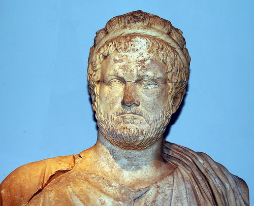 Second century Roman Imperial Priest in the Antalya, Turkey, Museum. Photo by Ferrell Jenkins.