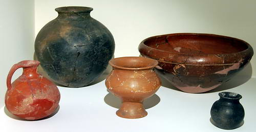 Urartuan Pottery in Ankara Museum of Anatolian Civilization. Photo by Ferrell Jenkins.