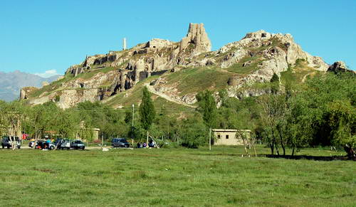 The Castle or Rock in Van, Turkey, once the Urartuan capital called Tushpa. Photo by Ferrell Jenkins.