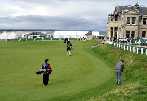 In the Rough at St. Andrews. Photo by Ferrell Jenkins.