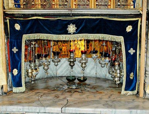 Bethlehem - The Church of Nativity - Star in the Grotto of the Nativity