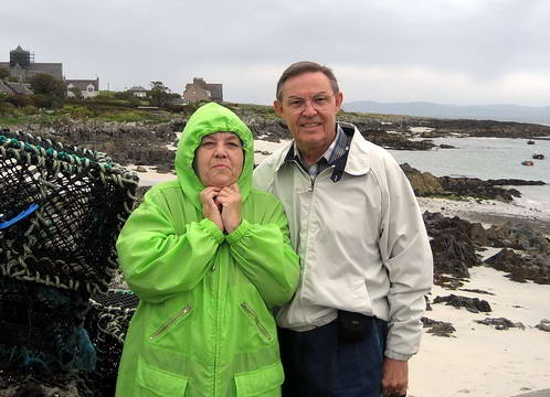 Ferrell and Elizabeth on the Isle of Iona in Scotland.