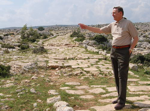 Ferrell Jenkins on the Roman Road North of Tarsus.