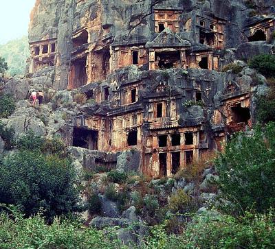 Rock Cut Tombs at Myra in Lycia