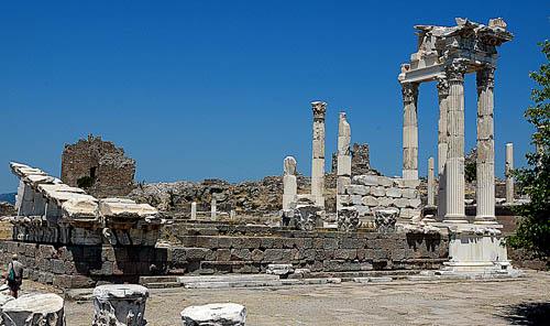Temple of Roman Emperor Trajan at Pergamum. Photo by Ferrell Jenkins.
