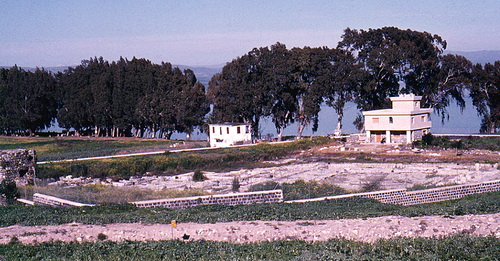 Site of Magdala on the western shore of the Sea of Galilee. Photo by Ferrell Jenkins in 1977.