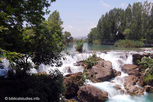 Waterfalls at Tarus in Cilicia, home of the apostle Paul. Photo by Ferrell Jenkins.
