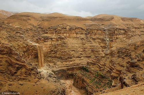 Wilderness of Judea Waterfall - April 2, 2006. Photo by Ferrell Jenkins.