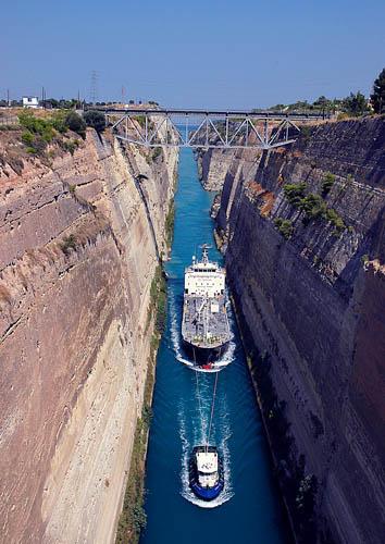 The Corinth Canal  Ferrells Travel Blog