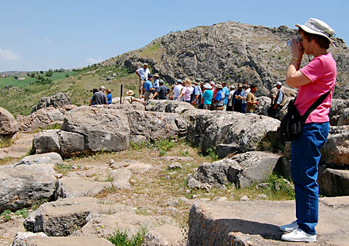 Jane at Hattusas, home of the Hittites. Photo by Ferrell Jenkins.