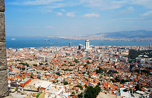 Izmir. View of city and harbor from Mount Pagos. Photo by Ferrell Jenkins.