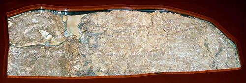 Hezekiah's Tunnel (Siloam) Inscription. Photo by Ferrell Jenkins.