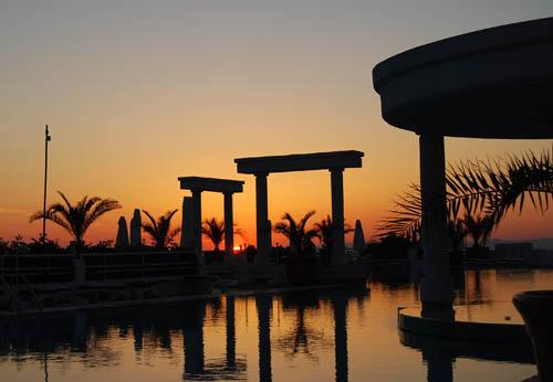 Sunset on the Aegean. Made a Kusadasi, Turkey, by Ferrell Jenkins.