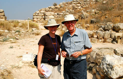Danielle and Ferrell in the gate of Lachish.