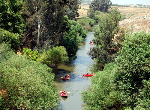 Jordan River at the Bridge of Jacob's Daughters. Photo by F. Jenkins.