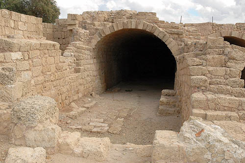 Building at Caesarea Maritima converted to a Mithraeum in the early 2nd century A.D. Photo by Ferrell Jenkins.