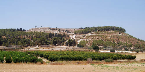 Tel Azekah overlooks the Valley of Elah. Photo by Ferrell Jenkins.