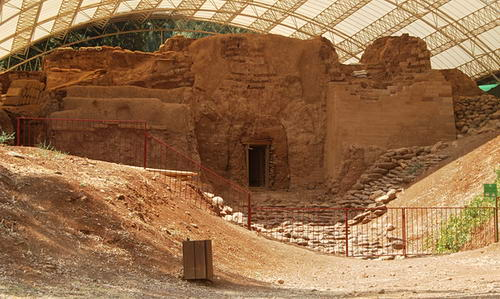 The Middle Bronze age city gate at Dan. Photo by Ferrell Jenkins.