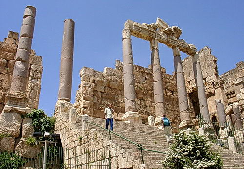 The reconstructed propylaea of Roman Baalbek. Photo by Ferrell Jenkins.
