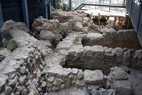 A portion of the City of David excavation. Photo by Ferrell Jenkins.