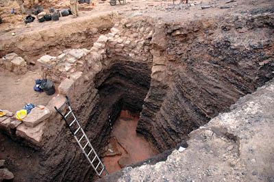 Industrial copper slag mound at Khirbat en-Nahas. Photo Thomas Levy.