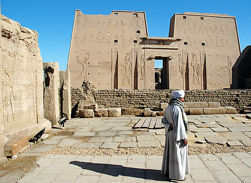 The temple of the sun god Horus at Edfu. Photo by Ferrell Jenkins.