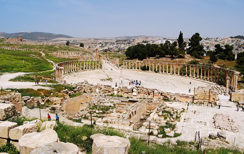 The forum at Jerash. Photo by Ferrell Jenkins.