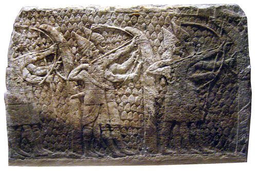 Assyrian archers at Lachish. British Museum. Photo by Ferrell Jenkins.