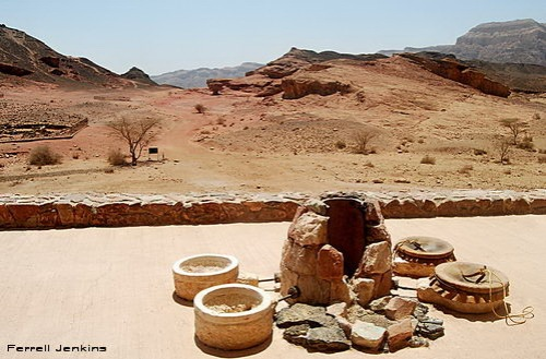 Model of copper smelting installation at Timna. Photo by Ferrell Jenkins.
