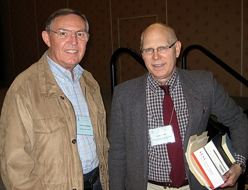Ferrell Jenkins and Gregory K. Beale at ETS Annual Meeting. Photo by Leon Mauldin.