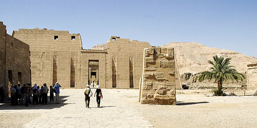 Entrance to Medinet Habu temple. Photo by Ferrell Jenkins.