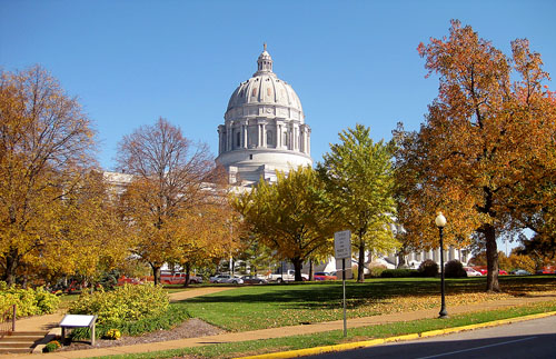 Missouri State Capitol, Jefferson City. Photo by Ferrell Jenkins.