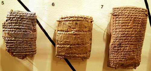 Three Nuzi tablets at the Semitic Museum at Harvard. Photo by Ferrell Jenkins.