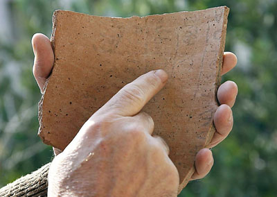 Qeiyafa Ostracon. Photo by G. Laro.