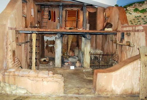 Typical Iron Age (1200-586 B.C.) Israelite house. Photo by Ferrell Jenkins.