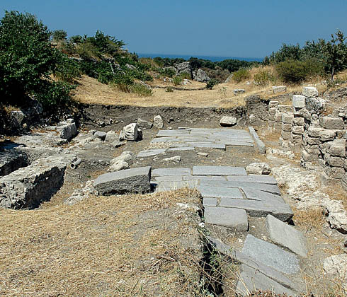 Recently excavated Roman road at Troas. Photo by Ferrell Jenkins 2006.