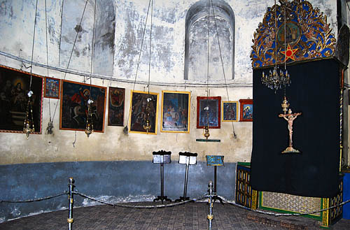 Armentian altar in the Church of the Nativity. Photo by Ferrell Jenkins.