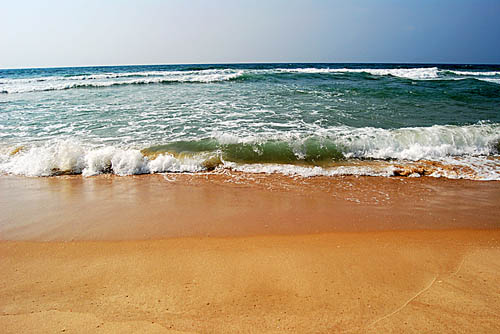 The Sea at Ashkelon. Photo by Ferrell Jenkins.