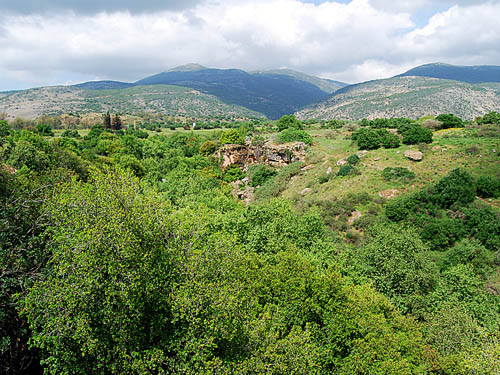 Vicinity of the Jordan River Waterfall. Photo by Ferrell Jenkins.
