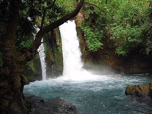 Jordan River Waterfall. Photo by Ferrell Jenkins.