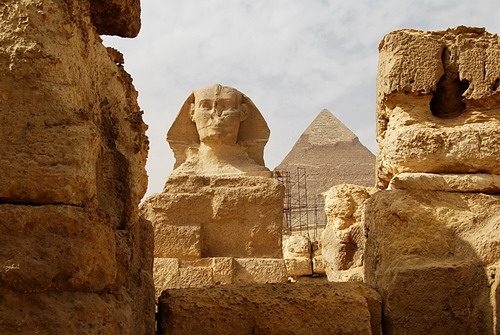 The sphinx and the pyramid of Cheops. Photo by Ferrell Jenkins.