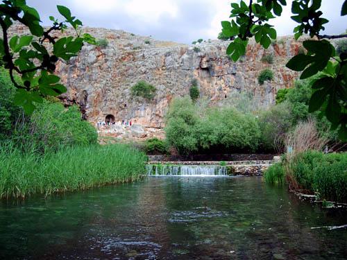 The Banias River at Caesarea Philippi. Photo by Ferrell Jenkins.