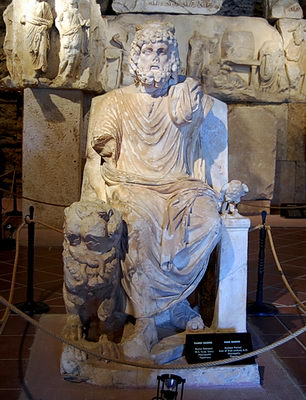 The god Hades in the Pamukkale Museum. Photo by Ferrell Jenkins.