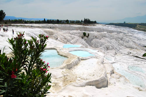 Limestone formations at Hierapolis. Photo by Ferrell Jenkins.