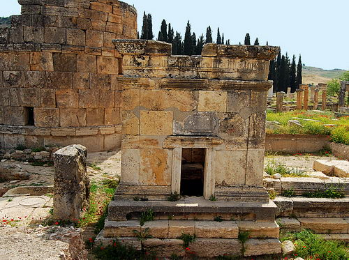 The tomb of Flavius Zeuxis at Hierapolis. Photo by Ferrell Jenkins.