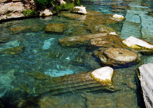 Ruins of the Roman city of Hierapolis in the hot springs. Photo by Ferrell Jenkins.